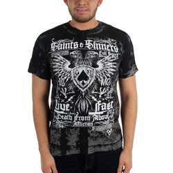 Affliction - Saints & Sinners Men's T-shirt in Black