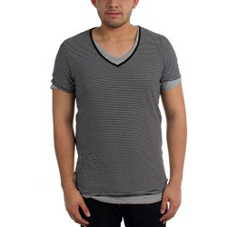 Scotch & Soda - Mens Double Layer V-Neck T-Shirt