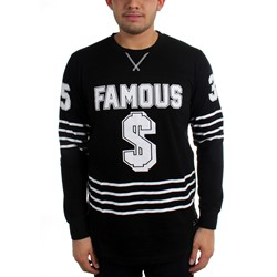 Famous Stars and Straps - Mens Paid LS Crew Knit Long Sleeve T-Shirt