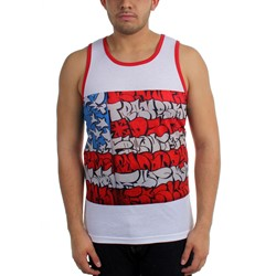 Famous Stars and Straps - Mens Slick Flag Sublimation Tank Top