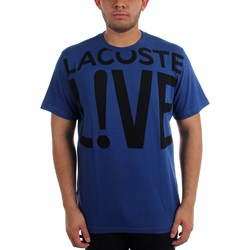 "Lacoste - Mens L!VE Jersey Short Sleeve Crew Neck ""Live"" Printed T-Shirt"