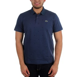 Lacoste - Mens L!VE Cotton Mini Pique Slim Fit Printed Dot Polo