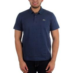 Lacoste - Mens L!VE Cotton Mini Pique Slim Fit Printed Dot Polo