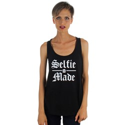 Famous Stars and Straps - Womens Selfie Jersey Racer  Tank Top