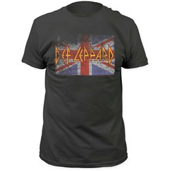 Def Leppard - Mens Union Jack Fitted Jersey T-Shirt