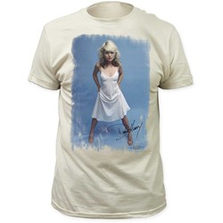 Debbie Harry - Mens White Dress Fitted Jersey T-Shirt