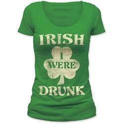 Impact Originals - Womens Irish I Were Drunk Women'S Scoop Neck T-Shirt