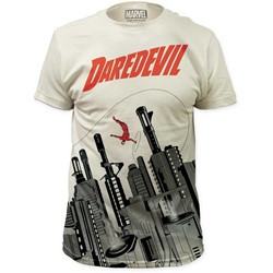 Daredevil - Mens Gun City Big Print Subway T-Shirt