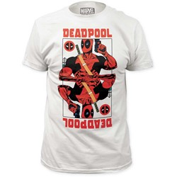 Deadpool - Mens Wild Card Fitted Jersey T-Shirt