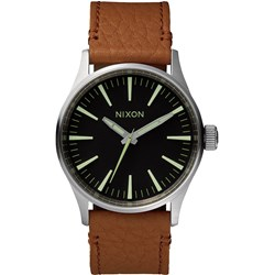 Nixon - Analog Men's Sentry 38 Leather Watch