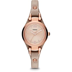 Fossil Georgia Brown Leather Watch ES3262