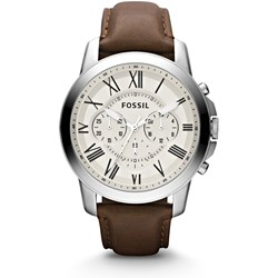 Fossil Grant Chronograph Brown Leather Watch - FS4735