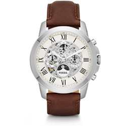 Fossil Grant Automatic Brown Leather Watch - ME3027