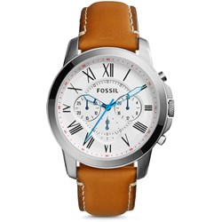 Fossil Grant Brown Leather Watch FS5060