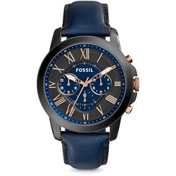 Fossil Grant Blue Leather Watch FS5061
