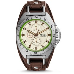 Fossil Breaker Chronograph Brown Leather Watch - CH3004