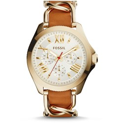 Fossil Cecile Gold Leather Watch AM4619