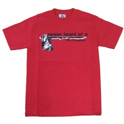 Red Never Heard Of It Heart Logo T-shirt