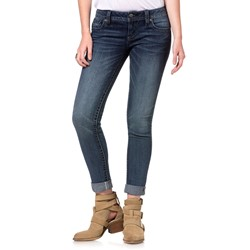 Miss Me - New Leaf Border Cuffed Skinny Jeans