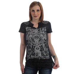 Affliction - Womens Renegade Love Western T-Shirt