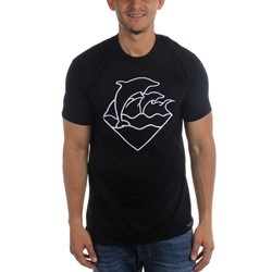 Pink Dolphin - Mens Embroidered Waves T-Shirt