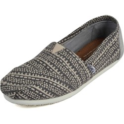 Toms - Black Taupe Printed Wool Women's Classics