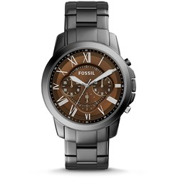 Fossil Watch - Grant Chronograph Smoke Stainless Steel Watch FS5090