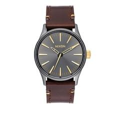 Nixon - Analog Men's Sentry 38 Leather Watch