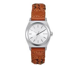 Nixon Women's Small Time Teller Leather Analog Watch