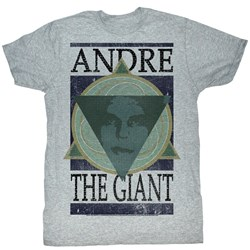Andre The Giant - Mens Andre Geometric T-Shirt In Gray Heather
