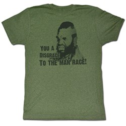 Mr. T - Mens Disgrace T-Shirt In Forest Heather