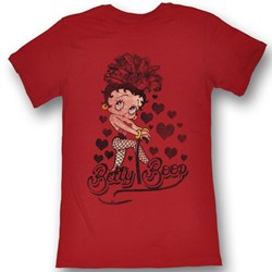 Betty Boop - Womens Chillin' T-Shirt In Red Bf Tee
