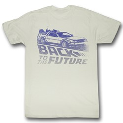 Back To The Future - Mens Future Fade T-Shirt In Natural White