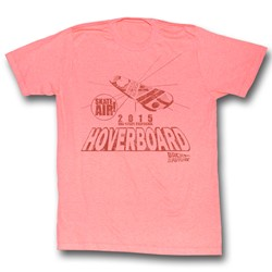 Back To The Future - Mens Hover Peach T-Shirt In Neon Peach Heather