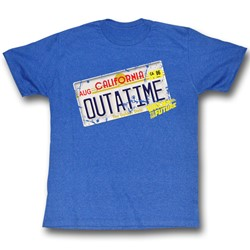 Back To The Future - Mens Outa It T-Shirt In Sea Blue Heather
