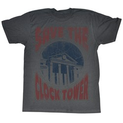 Back To The Future - Mens Saves The Day T-Shirt In Charcoal