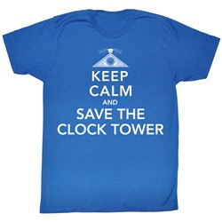 Back To The Future - Mens Calmness T-Shirt In Royal Blue