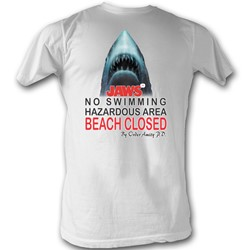 Jaws - Mens Beach Closed T-Shirt In White