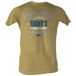 Jaws - Mens Shark Tour2 T-Shirt In Khaki Heather