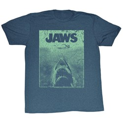 Jaws - Mens Green Jaws T-Shirt In Navy Heather
