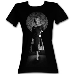 Marilyn Monroe - Womens Black Keys T-Shirt In Black
