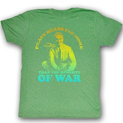 Mister Rogers - Mens Peace T-Shirt In Kelly Green Heather