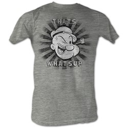 Popeye - Mens That'S Whats Up T-Shirt In Gray Heather