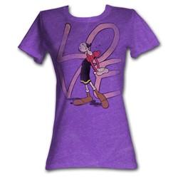Popeye - Womens Love T-Shirt In Purple Heather