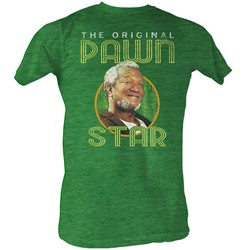 Red Foxx - Mens Pawn Star2 T-Shirt In Kelly Green Heather