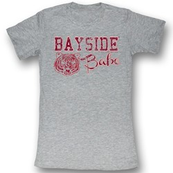 Saved By The Bell - Womens Bayside Baby T-Shirt In Gray Heather Bf Tee