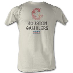Usfl - Mens Houston T-Shirt In Vintage White
