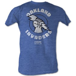 Usfl - Mens Oakland T-Shirt In Sea Blue Heather