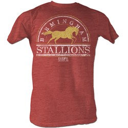 Usfl - Mens Bham Stallions2 T-Shirt In Red Heather