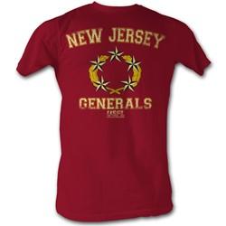 Usfl - Mens Generals T-Shirt In Cardinal